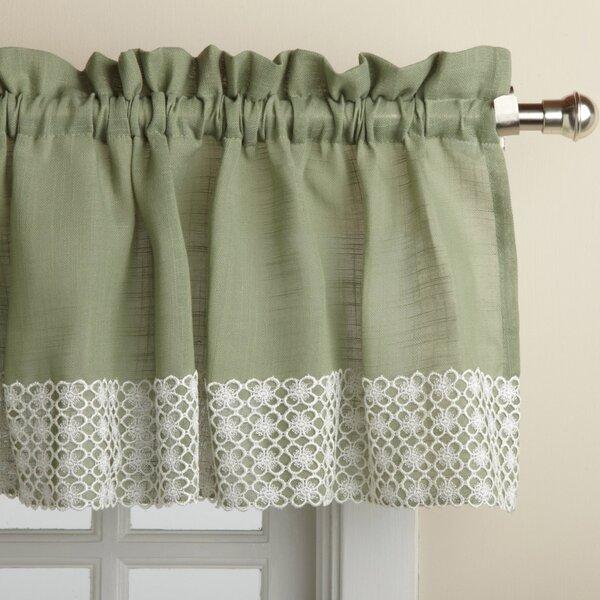 sweet home collection salem kitchen 60 curtain valance reviews wayfair. Black Bedroom Furniture Sets. Home Design Ideas
