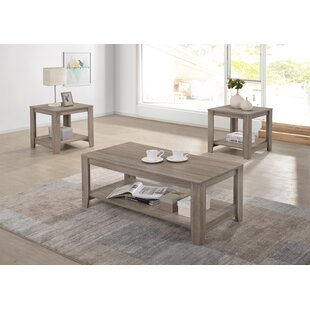 Hille 3 Piece Coffee Table Set by Highland Dunes