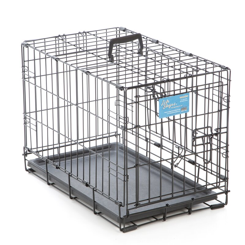Life Stages Fold U0026 Carry Double Door Pet Crate