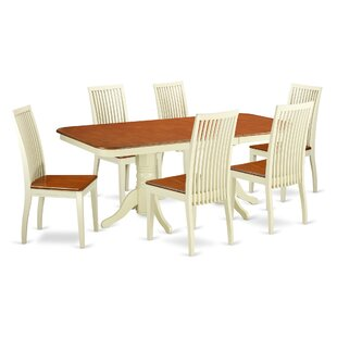 Pillsbury 7 Piece Solid Wood Dining Set by August Grove Sale