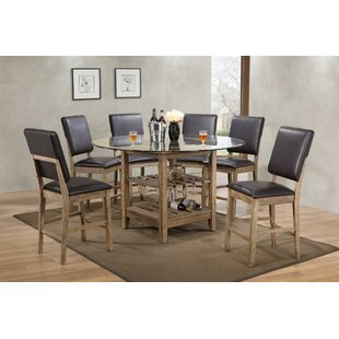 Deonte 7 Piece Pub Table Set Millwood Pines