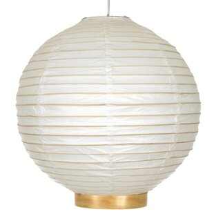 Buchanan Bamboo Shoji Globe Pendant by World Menagerie