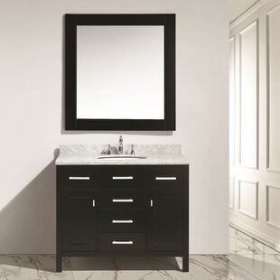 Middletown 42 Single Bathroom Vanity Set with Mirror by Andover Mills