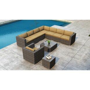 Orren Ellis Gilleland 10 Piece Sectional Set with Sunbrella Cushion