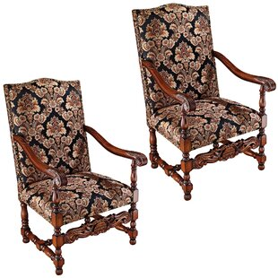 Design Toscano Milton Manor Drawing Room Armchair (Set of 2)
