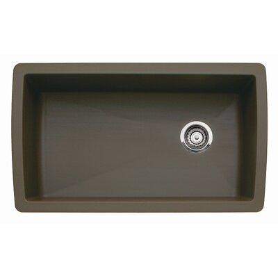 Blanco Diamond 33.5 L x 18.5 W Undermount Kitchen Sink Color: Café Brown
