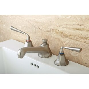 Kingston Brass Silver Sage Widespread Bathroom Faucet with Drain Assembly
