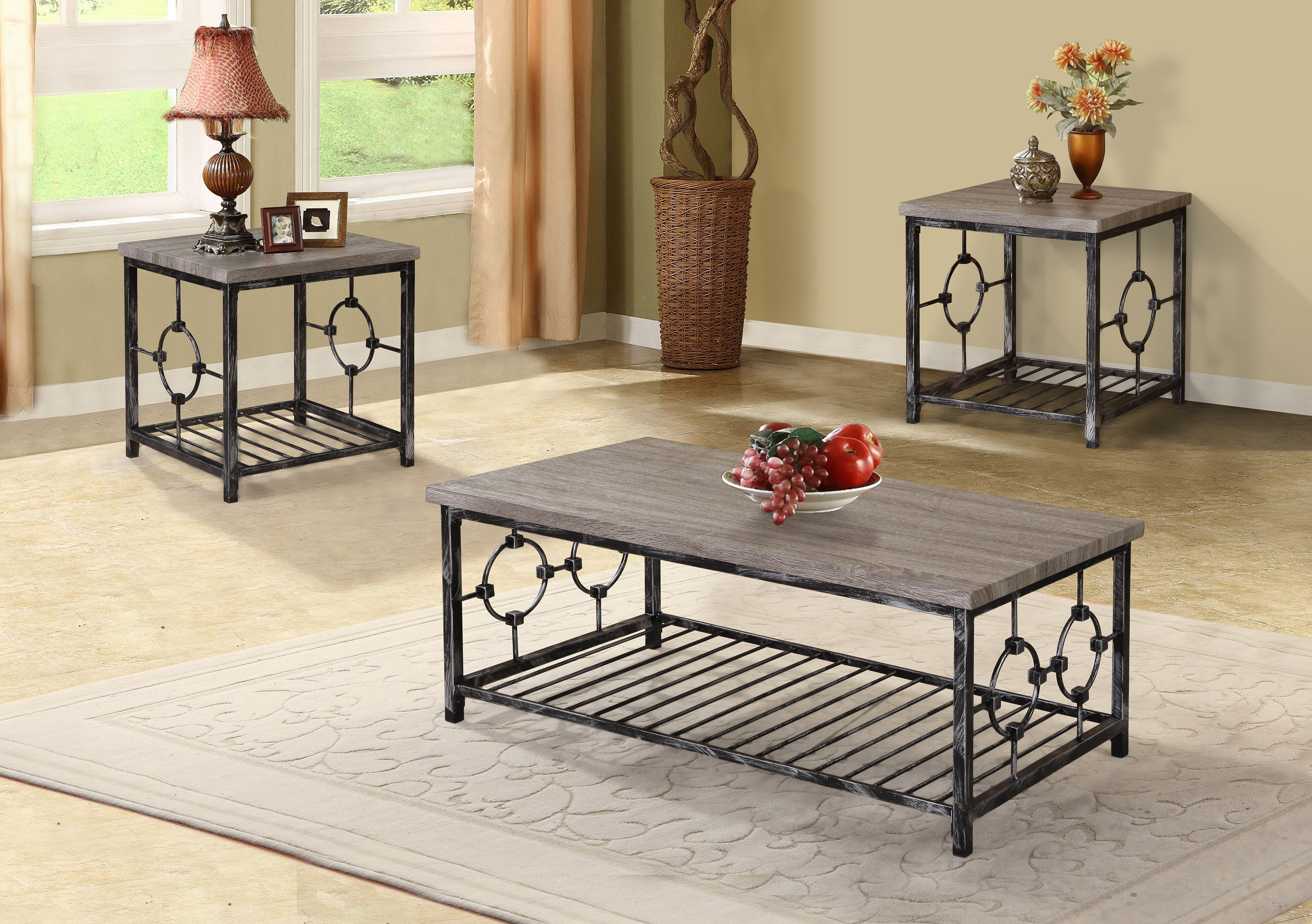 Lage 3 Piece Coffee Table Set