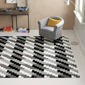 Wrought Studio Donley Striped Handmade Flatweave Wool Area Rug Wayfair