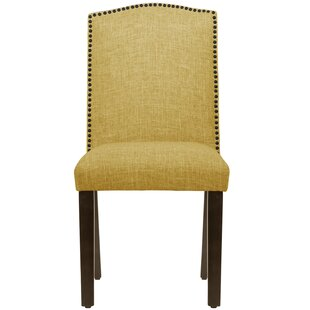 Bronstein Nail Button Camel Back Upholstered Dining Chair by Canora Grey Design