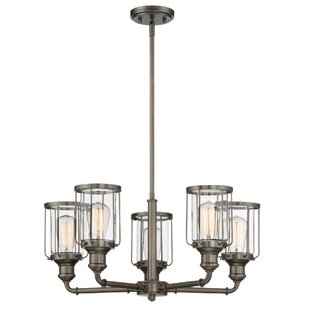 Williston Forge Adriana 5-Light Shaded Chandelier