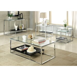 Living Room Glass Tables glass coffee table sets you'll love | wayfair