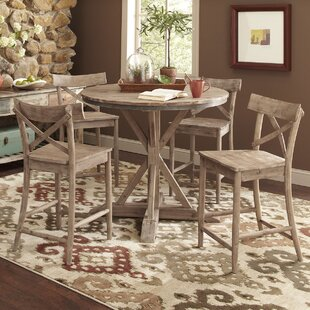 Dupre 5 Piece Solid Wood Dinning Set