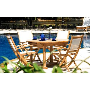 Three Birds Casual Riviera 5 Piece Teak Dining Set