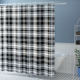 Elmwood British Tartan Pattern Single Shower Curtain