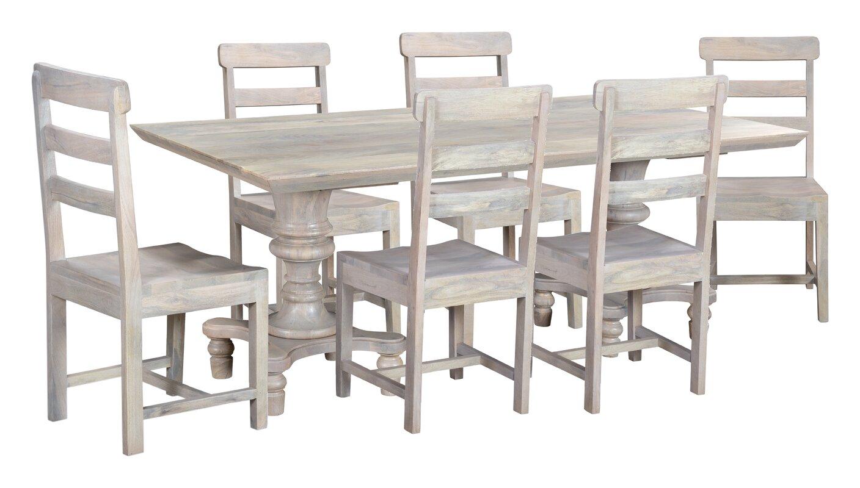 Rosalind Wheeler Amidon Mango Solid Wood Dining Set