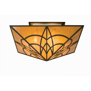 Meyda Tiffany Scottsdale Mission 4-Light Semi-Flush Mount