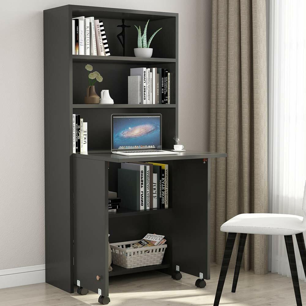 Ebern Designs Goncalves Armoire Desk Reviews Wayfair