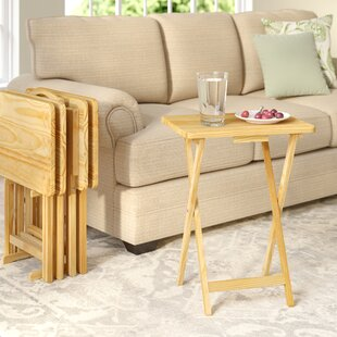 Where buy  Mischa TV Tray Table with Stand (Set of 4) ByAugust Grove