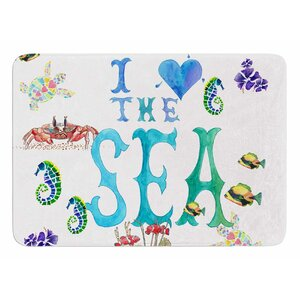 I Love the Sea by Catherine Holcombe Memory Foam Bath Mat