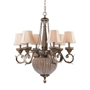 Astoria Grand Moody 8-Light Shaded Chandelier