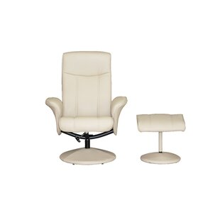 Nickerson Manual Swivel Recliner With Footstool By George Oliver