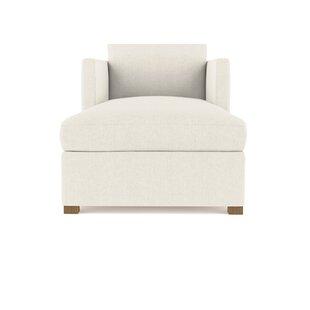 Brayden Studio Leedom Linen Chaise Lounge