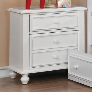 Saltsman 3 Drawer Nightstand