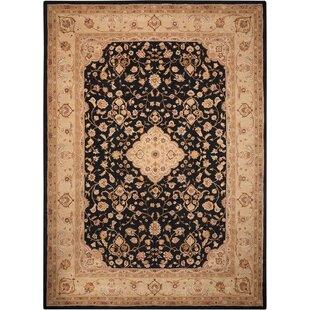 Savings Lundeen Hand-Tufted Wool Black Area Rug ByAstoria Grand