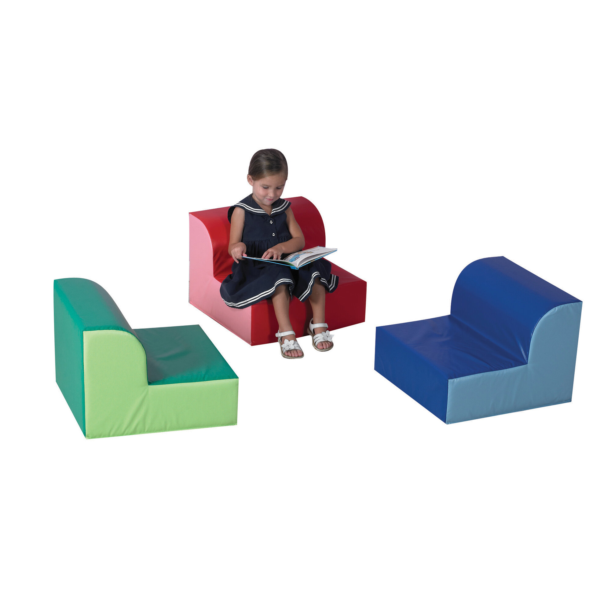 Factory Primary Library Kids Foam Sofa