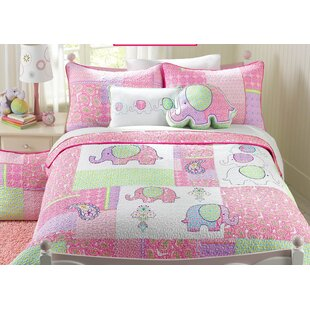 Carmela 100% Cotton Reversible Quilt Set