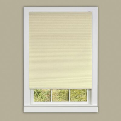 "Honeycomb Cellular Cordless Pleated Shade Symple Stuff Blind Size: 33"" W x 64"" L, Color: Alabaster"