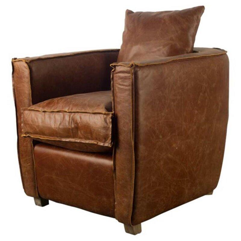 Superb Bertaux Cognac Club Chair