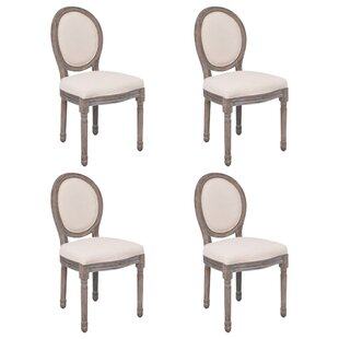 Holl Side Chair in Cream Set of 4 by One Allium Way