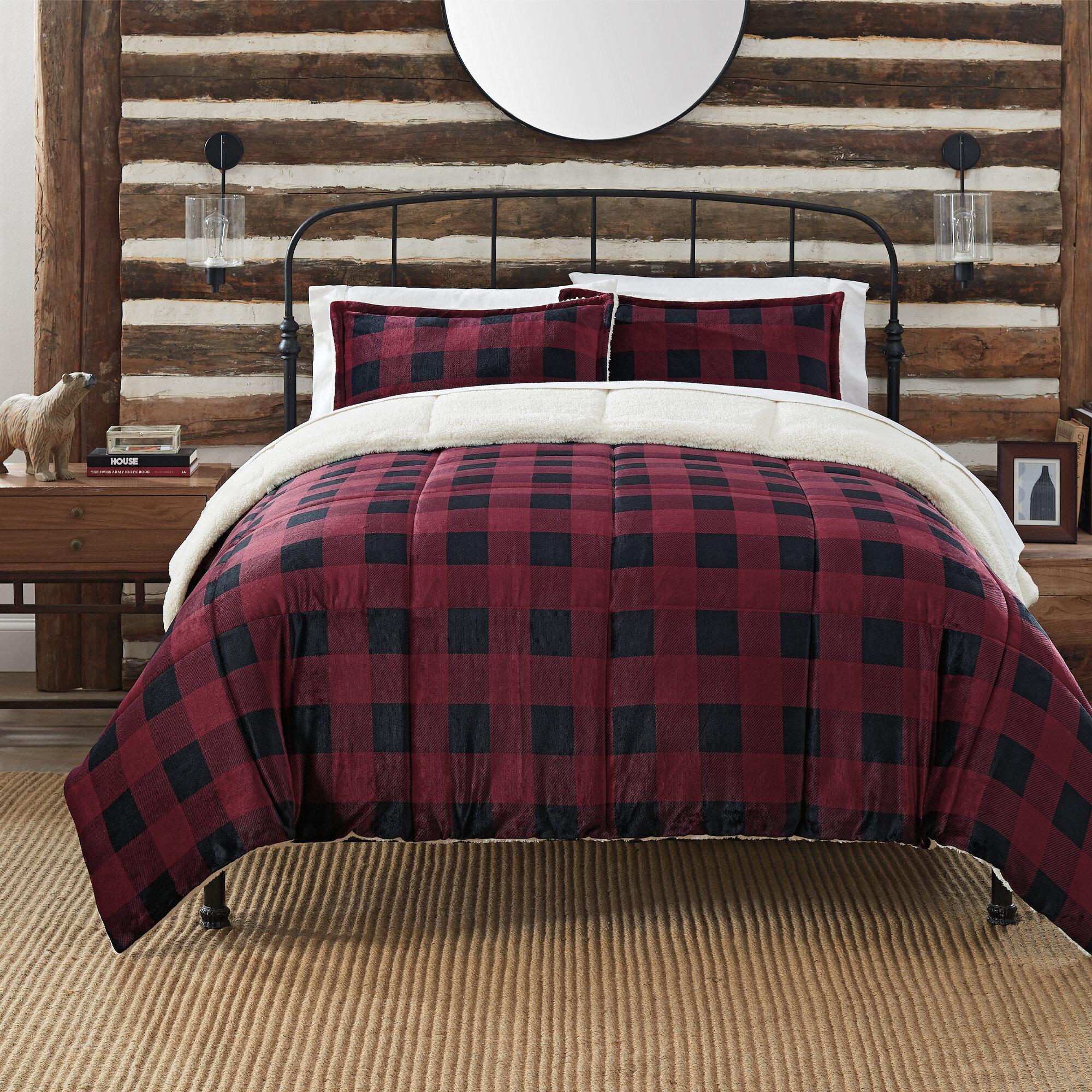 Serta Cozy Plush Buffalo Plaid Comforter Set Wayfair