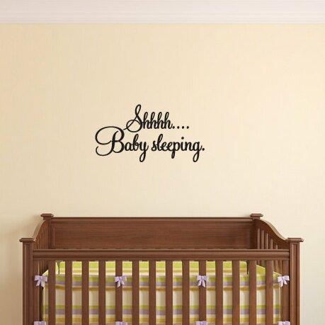harriet bee dunnock shhhh baby sleeping wall decal | wayfair
