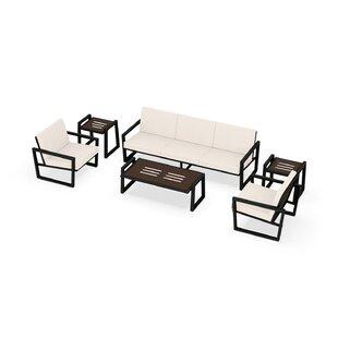 Vero 6 Piece Sunbrella Sofa Set with Cushions