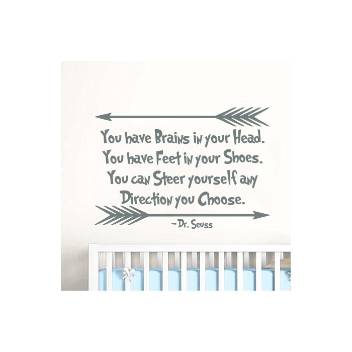 Dr Seuss Quotes Nursery Wall Decal