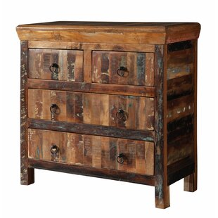 Mcelvain Reclaimed Wood 4 Drawer Accent Chest by World Menagerie