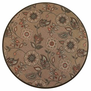 Deck Floral Vine Tan Indoor/Outdoor Area Rug