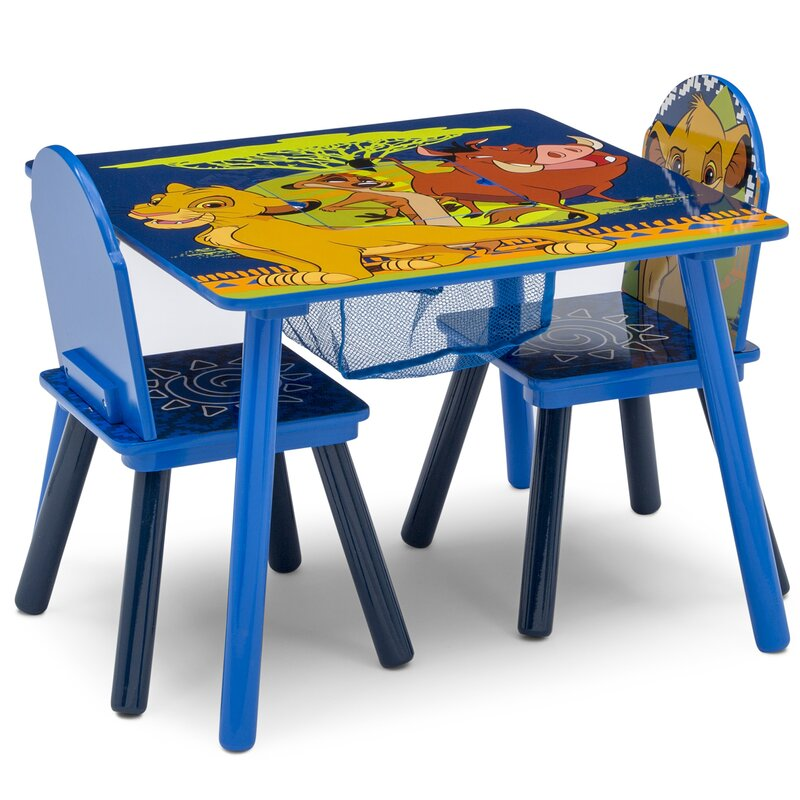 Disney Kids 3 Piece Activity Table