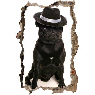 Criminal Pug With A Mafia Hat Wall Sticker By East Urban Home