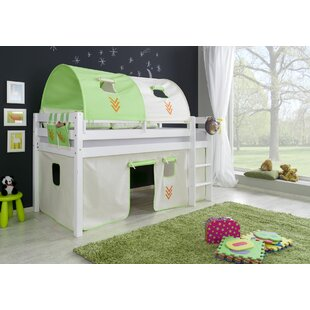 Review Giordano European Single Mid Sleeper Bed With Curtain