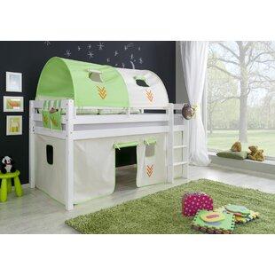 Price Sale Giordano European Single Mid Sleeper Bed With Curtain