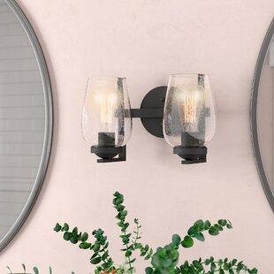 Compare prices Chubbuck 2-Light Vanity Light ByLaurel Foundry Modern Farmhouse