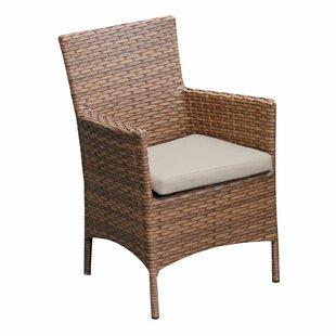 TK Classics Laguna Patio Dining Chair with Cushion (Set of 2)