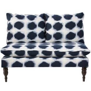 Chesterman Abels Armless Love Seat in Indo Indigo