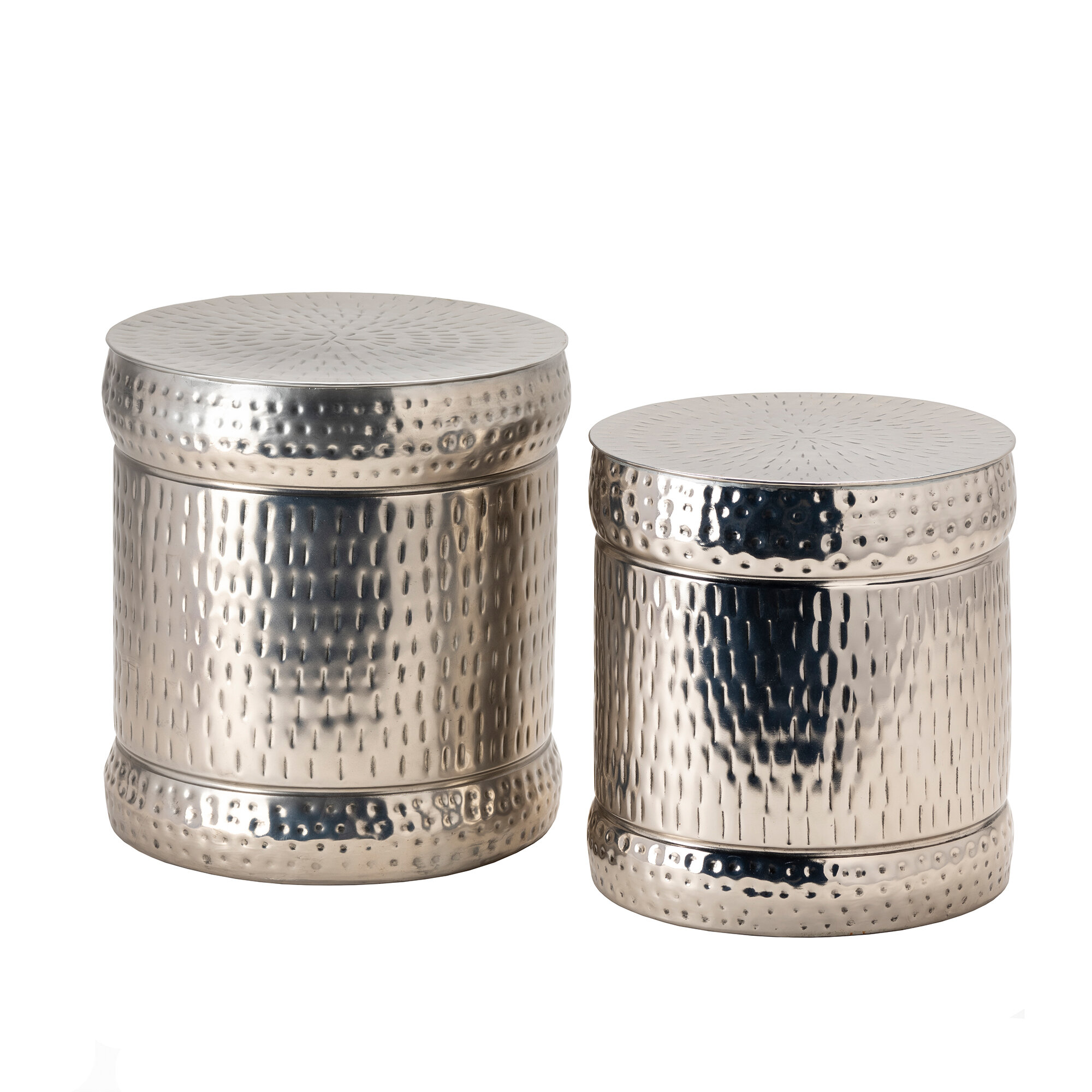 Silver Accent Stools You Ll Love In 2021 Wayfair