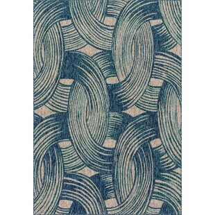 Summerfield Blue Indoor/Outdoor Area Rug