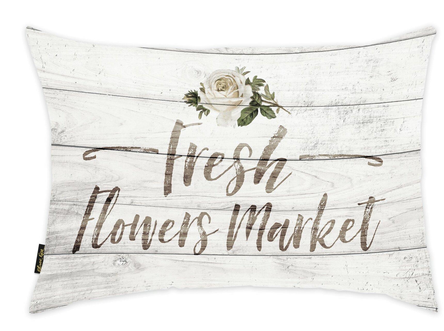 Oliver Gal Fresh Flowers Market Light Lumbar Pillow Wayfair